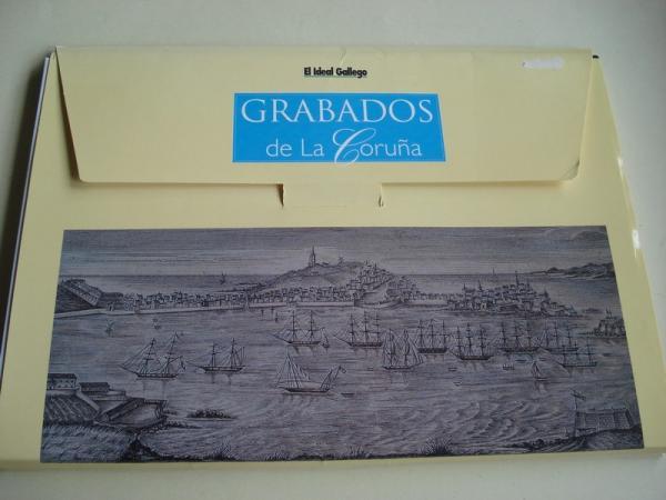 Grabados de La Coruña. 50 gravados en color e B/N 32 x 21,5 cm en carpeta