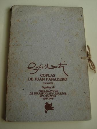 Coplas de Juan Panadero. Año 1949-1977 / Vida bilingüe de un refugiado español en Francia. Año 1939-1940. Carpeta de cartón con dos libros