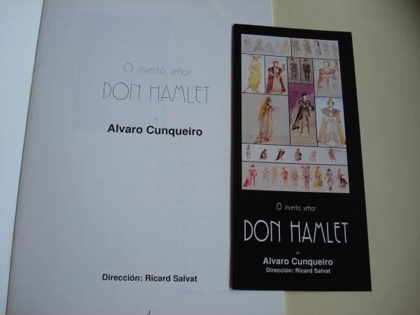 O incerto Señor Don Hamlet. Dirección de Ricard Salvat. Programa da representación e folleto