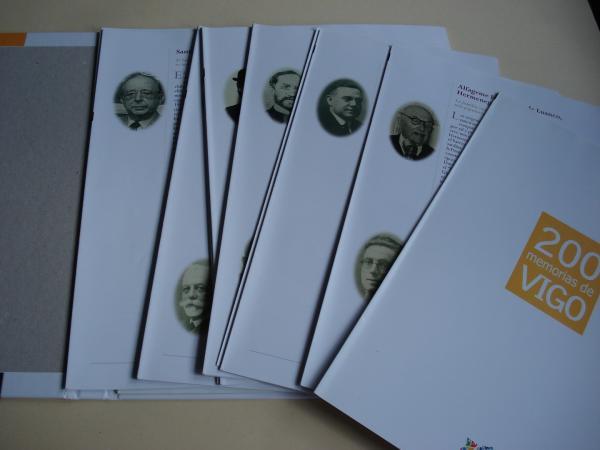 200 memorias de Vigo. FALTA 1 FASCÍCULO. Colección de 11 Fascículos para encadernar, con tapas e gardas.
