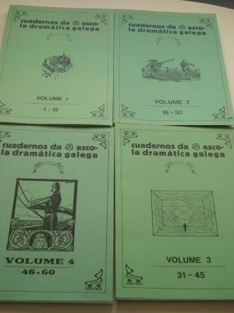 Cuadernos / cadernos da Escola Dramática Galega. Colección completa (105 cadernos) - 4 tomos + Cadernos soltos