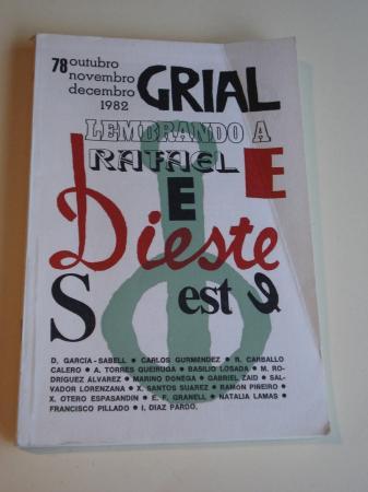 GRIAL. Revista galega de cultura. Nº 78. Outubro-Novembro-Decembro, 1982. Lembrando a Rafael Dieste
