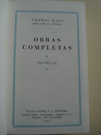 Obras completas. Novelas