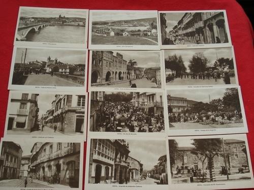 Lote de 12 tarxetas postais de Noia (Noya)- Década de 1920