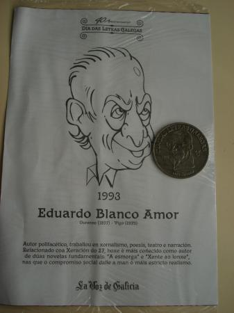 Eduardo Blanco Amor / Luis Seoane. Medalla conmemorativa 40 aniversario Día das Letras Galegas. Colección Medallas Galicia ao pé da letra