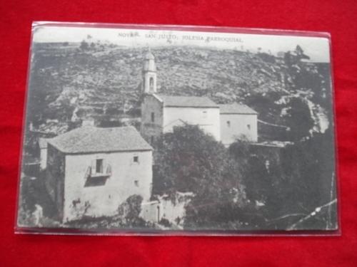 Tarxeta postal: Noia (Noya) - San Xusto - Igrexa parroquial. 1920