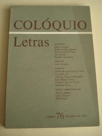 COLÓQUIO LETRAS. Revista bimestral. Número 76. Novembro de 1983