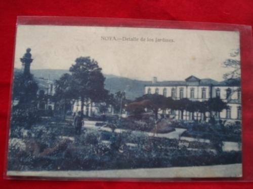 Tarxeta postal: Noia (Noya) - Detalles dos Xardíns de Felipe de Castro. 1920