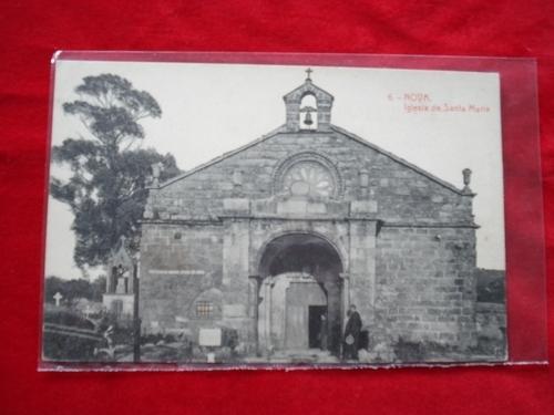 Tarxeta postal: Noia (Noya) - Igrexa de Santa María a Nova. 1920