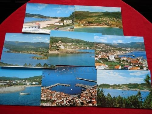Lote de 8 tarxetas postais de Muros (A Coruña)