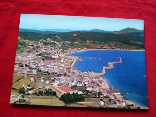 Tarxeta postal: Ribeira (A Coruña). Vista aérea. Década 1970