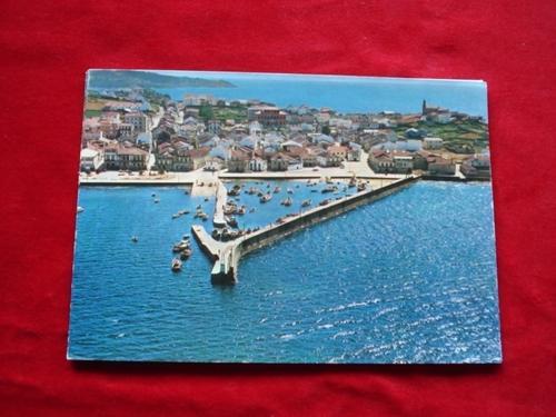 Tarxeta postal: Porto do Son (A Coruña). Vista aérea. Década 1970