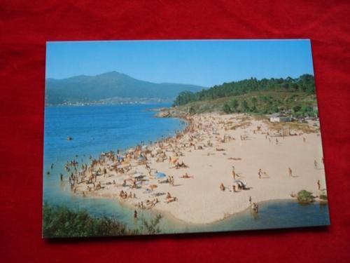 Tarxeta postal: Porto do Son (A Coruña). Portosín-Praia da Ornanda. Década 1970
