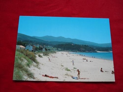 Tarxeta postal: Porto do Son (A Coruña). Portosín-Praia de Coira. Década 1970