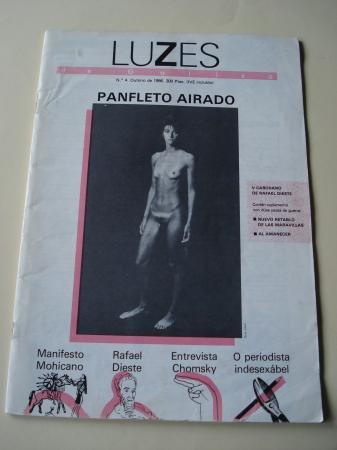 Luzes de Galiza. Nº 4 outubro 1986. Contén suplemento de dúas pezas de guerra de Rafael Dieste: Nuevo retablo de las maravillas e Al amanecer
