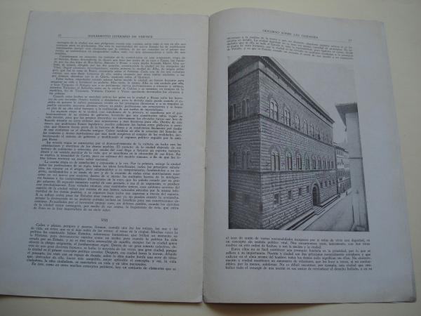 Discurso sobre las Ciudades. Suplemento literario de Vértice. Mayo, 1940