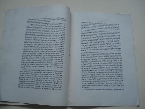 Verbas aos mozos galegos. O momento universitario (1ª edición, 1933)