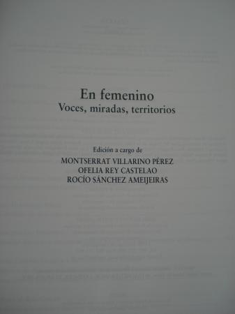 SEMATA. Ciencias sociais e humanidades. Núm. 20. EN FEMENINO. Voces, miradas, territorios