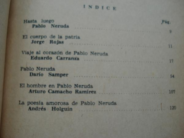 Homenaje a Pablo Neruda. Conferencias en la Biblioteca Nacional (Pablo Neruda - Jorge Rojas - Eduardo Carranza - Darío Samper - Arturo Camacho Ramírez - Andrés Holguín)