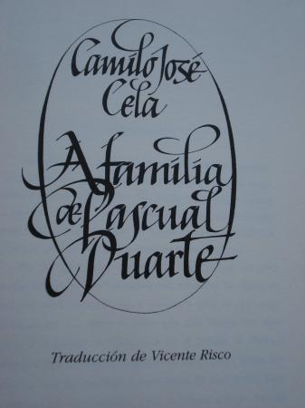 A familia de Pascual Duarte (Tradución ao galego de Vicente Risco)