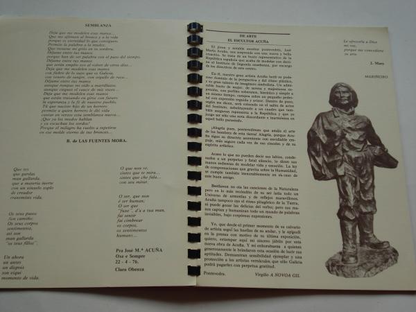 JOSÉ MARÍA ACUÑA. Bronces. Catálogo Exposición Galería Kreisler, Madrid, 1977