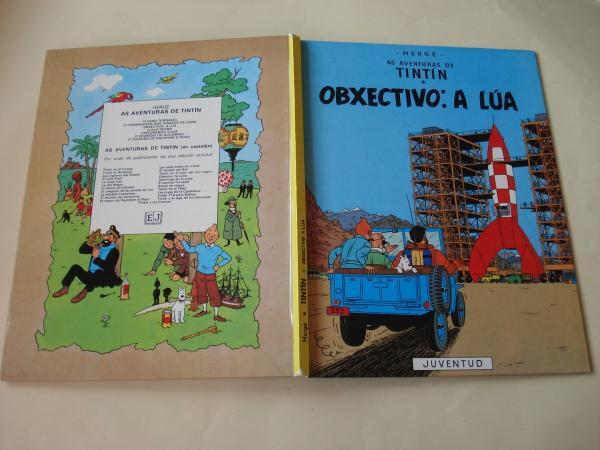 Obxectivo: A lúa. As aventuras de Tintín (En galego). Tradución de Valentín Arias López