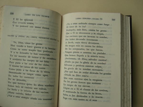 Los Salmos y los Proverbios en verso castellano (Versión directa del hebreo por Eloíno Nácar Fuster)