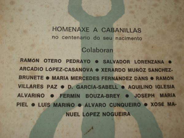 GRIAL. Revista galega de cultura. Nº 54. Outubro-novembro-decembro, 1976: Homenaxe a Cabanillas no centenario do seu nacimento
