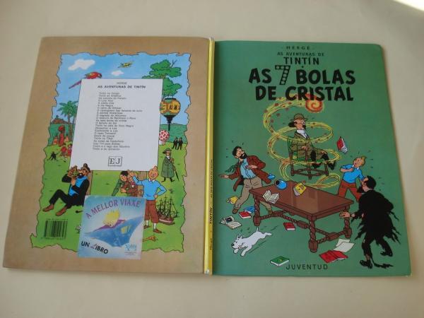 As 7 bolas de cristal. As aventuras de Tintín (En galego). Tradución de Valentín Arias López