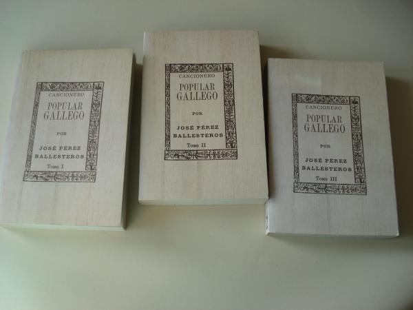 Cancionero popular gallego. 3 tomos (En galego)