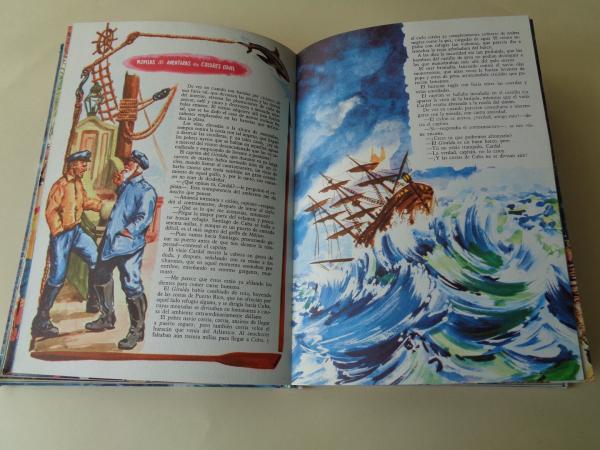 5 novelas de aventuras: El águila blanca - Un héroe persa - El tigre del mar - Lluvia de fuego - En la costa de oro (Ilustrados en color)