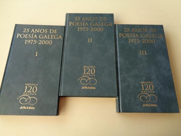 25 anos de poesía galega 1975-2000. 3 tomos