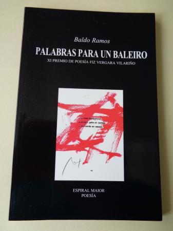 Palabras para un baleiro (XI Premio de Poesía Fiz Vergara Vilariño)