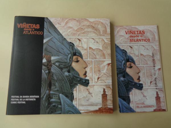 Viñetas desde o Atlántico. Festival da Banda Deseñada / Festival de la historieta / Comic Festival. A Coruña, agosto 2001. Catálogo + folleto