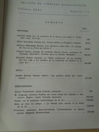 COMPOSTELLANUM. Sección de Ciencias Eclesiásticas. Volumen XXXI, números 1-2. Enero-Junio, 1986