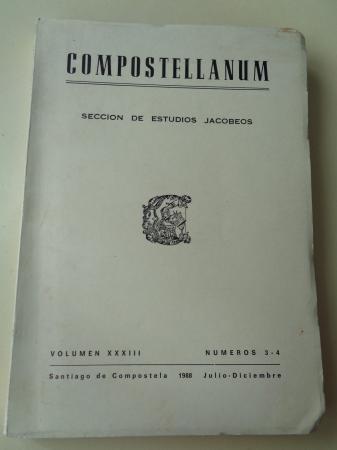 COMPOSTELLANUM. Sección de Ciencias Eclesiásticas. Volumen XXXIII, números 3-4. Julio-Diciembre, 1988
