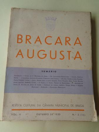 BRACARA AUGUSTA. Revista Cultural da Câmara Municipal de Braga. Outubro, 1950 (Vol. II - nº 3 (16))