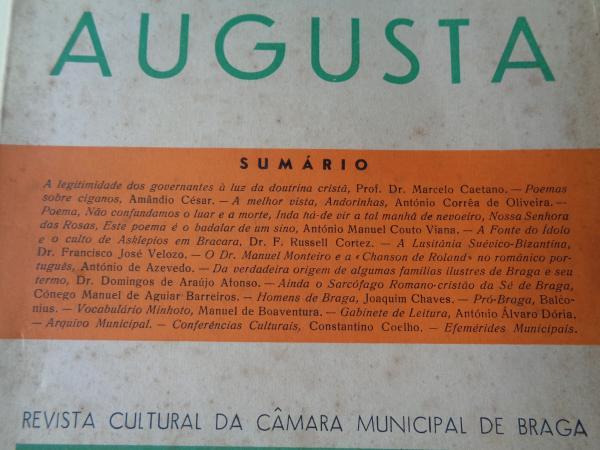 BRACARA AUGUSTA. Revista Cultural da Câmara Municipal de Braga. Dezembro 1952. (Vol. IV - Nº 1-3 (22-24))