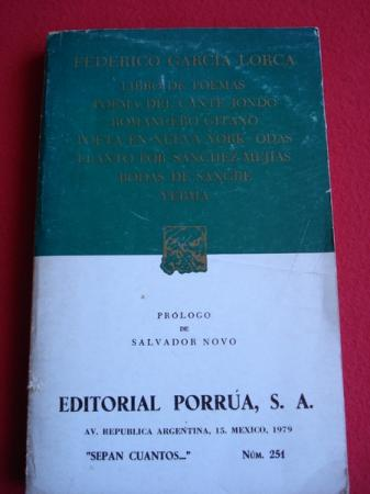 Libro de poemas - Poema del cante jondo - Romancero gitano - Poeta en Nueva York - Odas...