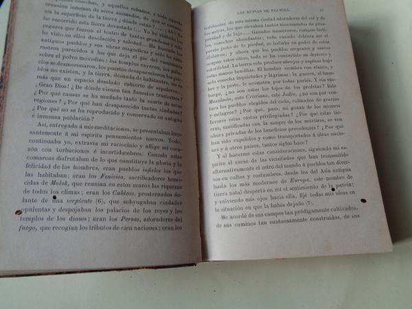 Las ruinas de Palmira - La ley Natural - La historia de Samuel