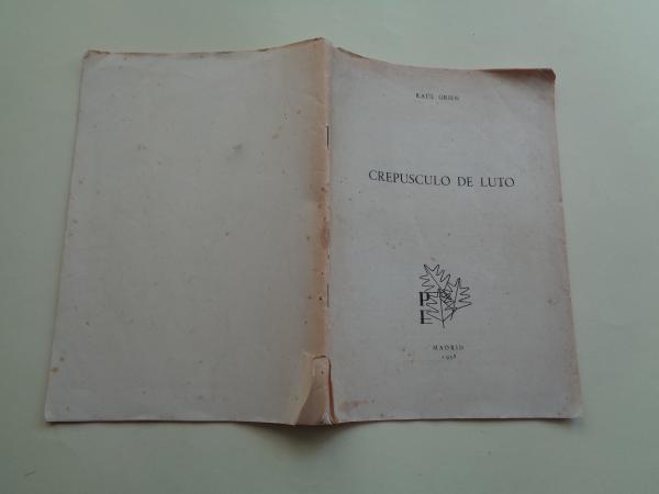 Crepúsculo de luto. Separata Revista Punta Europa, nº 33, septiembre 1958