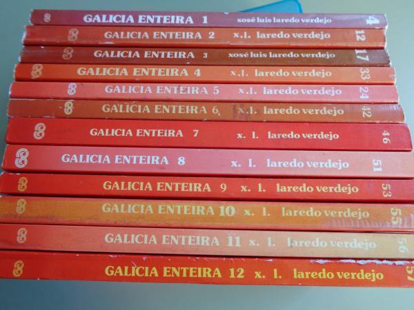 Galicia enteira. Colección completa. 12 tomos. Guías con rutas e mapas