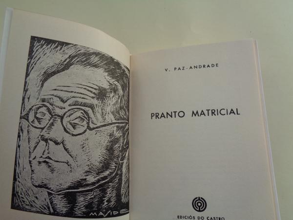 Pranto matricial. Edición pentalíngüe no 25 cabodano de Castelao