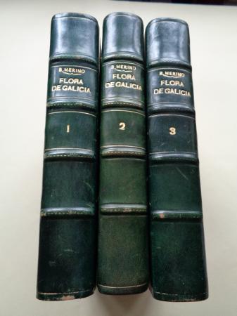Flora descriptiva e ilustrada de Galicia. 3 tomos (edición de 1905, 1906 y 1909)