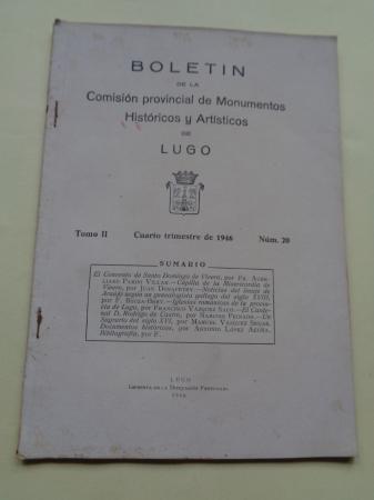 Boletín de la Comisión Provincial de Monumentos Históricos y Artísticos de Lugo. Nº20, Cuarto trimestre de 1946