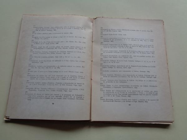 Bibliografía económica de Galicia. Serie 1ª: Estudios y trabajos de carácter general