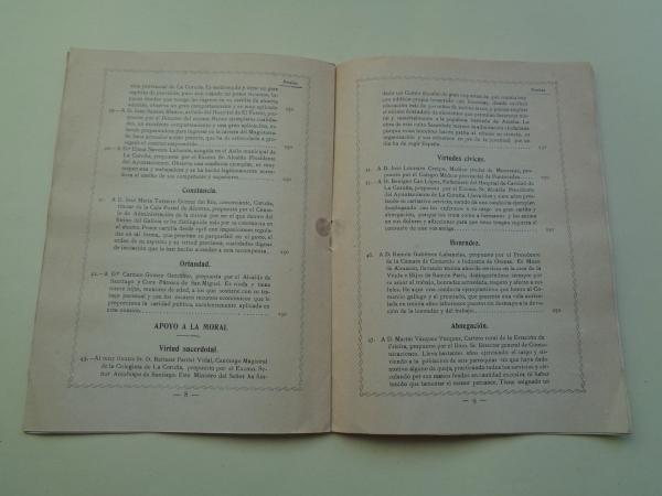Programa del VI Certamen Nacional del Ahorro, Coruña, 1926