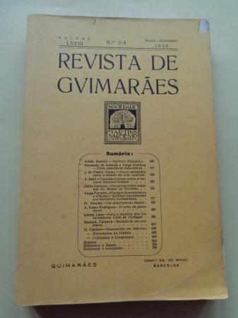 Revista de Guimarâes. Volume LXVII, nº 3-4, Julho-Dezembro 1958