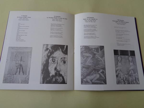 VÍA CRUCIS. Catálogo exposición 14 poetas + 14 pintores. Casa da Parra, Santiago de Compostela, 1988
