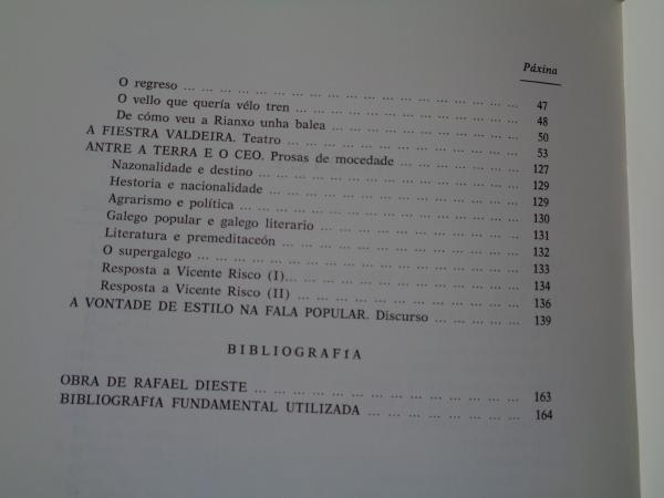 Rafael Dieste. Vida e obra en lingua galega (Contén `A fiestra valdeira´)